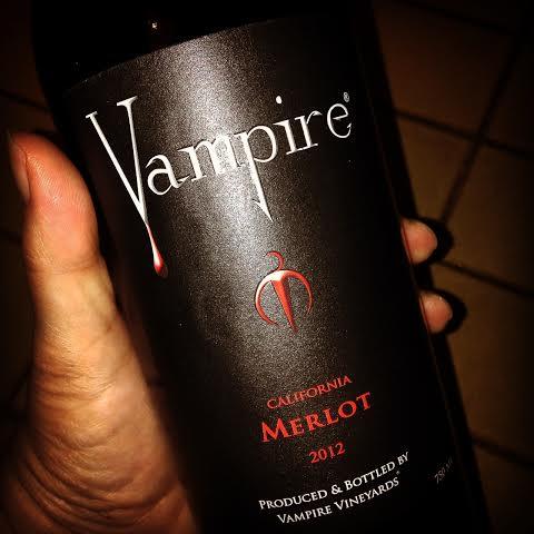 2012 Vampire Merlot wine