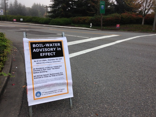 Boil-water advisory on Mercer Island