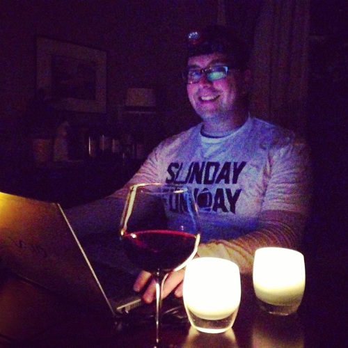Studying by candlelight