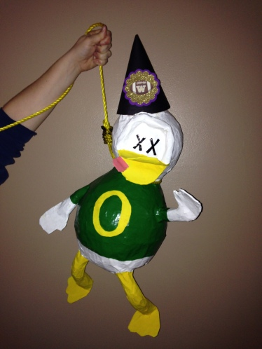 Oregon Duck on a noose