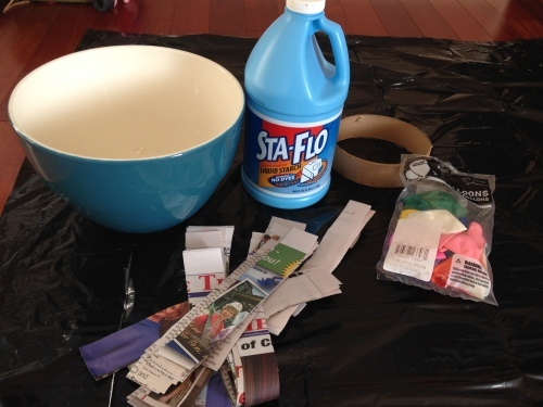 Paper mache supplies