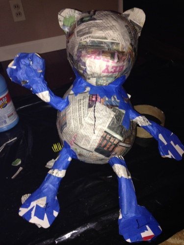 Cougar pinata: About half way done