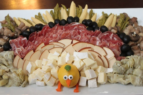 Our turkey-shaped antipasti plate