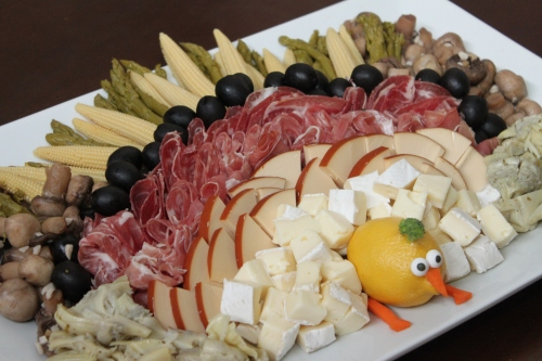 Thanksgiving appetizer platter