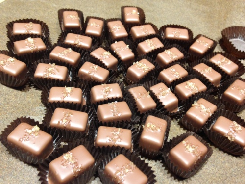 Milk chocolate sea salt caramels...One of my favorites!