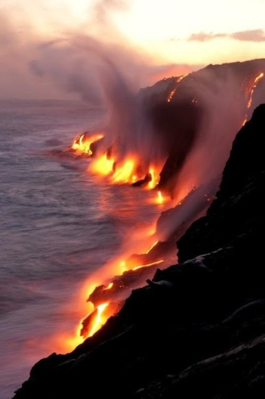 Lava meets water