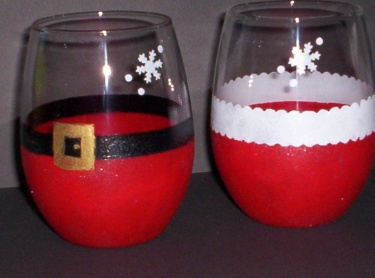 Mr. & Mrs. Claus wine glasses