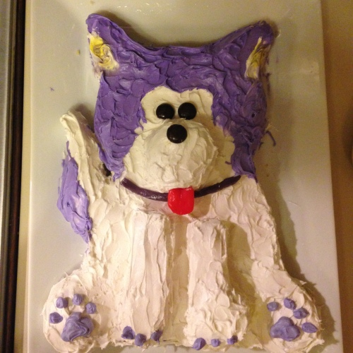 Woof! Here's my University of Washington Huskies cake