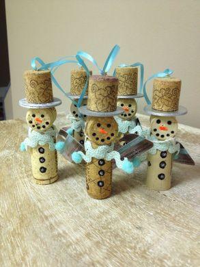 Snowman corks