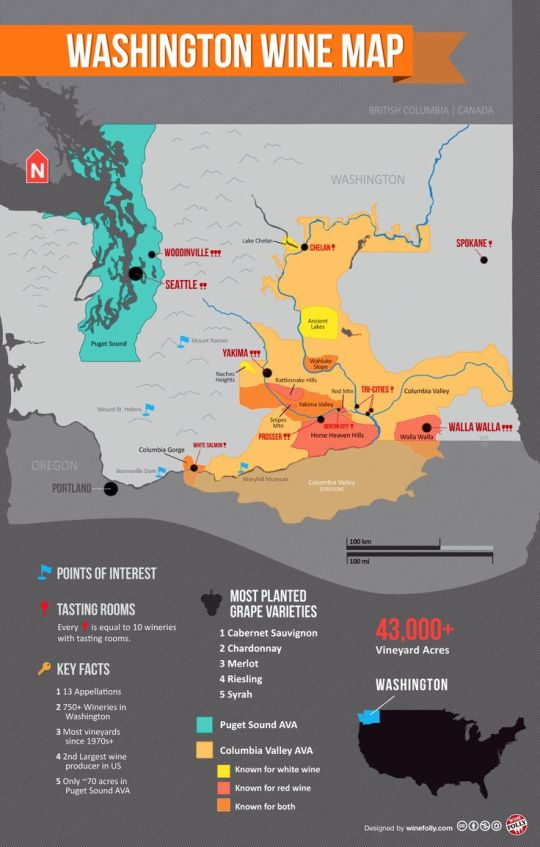 Washington Wine Map