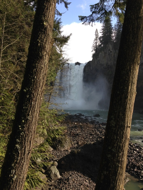 Snoqualmie Falls from the bottom