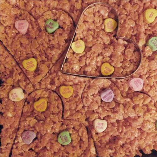 Special Valentine's Day Rice Krispies treats