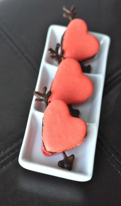 An even fancier macaron! These scream Valentine's Day!