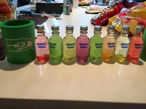 Skittles vodkas for the whole party!