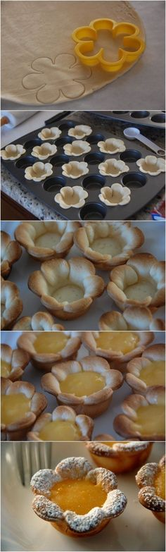 Flower cookie bowls