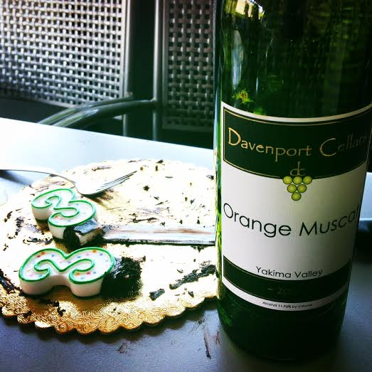 Bakery Nouveau classic chocolate cake pairs VERY nicely with Davenport's Orange Muscat!