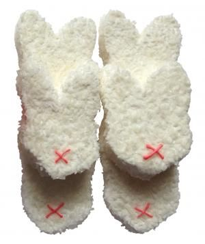 Coconut bunnies-- How cute would candy eyes be on these!?