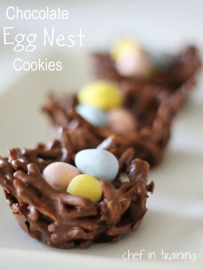 Nest cookies with eggs (and maybe Peeps?!)