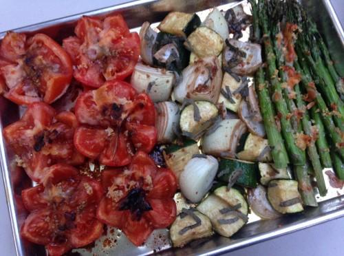 Veggies: roasted