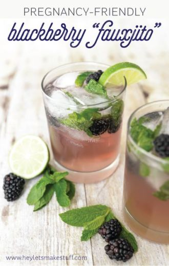 Blackberry fauxjito