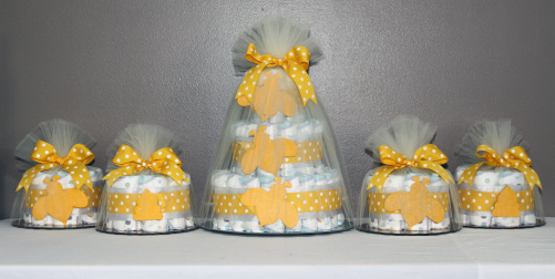 Bumble bee diaper cakes