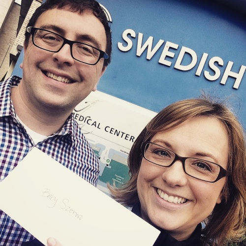 Here we are with the envelope. No peeking!