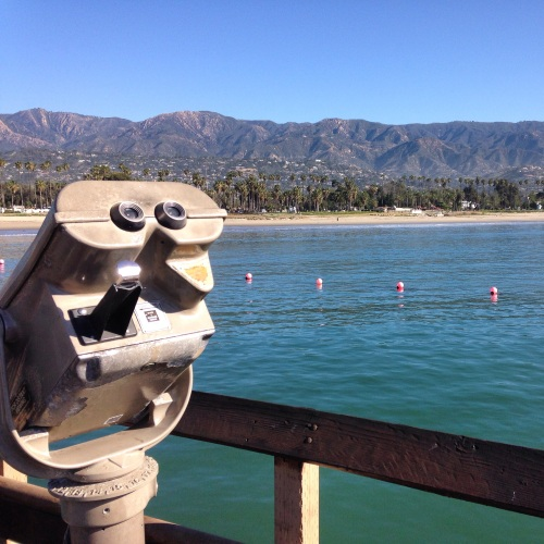 The view from the wharf in Santa Barbara