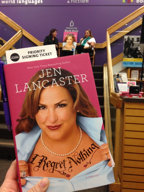 Jen on the cover and in real life! Check out that priority signing ticket!!