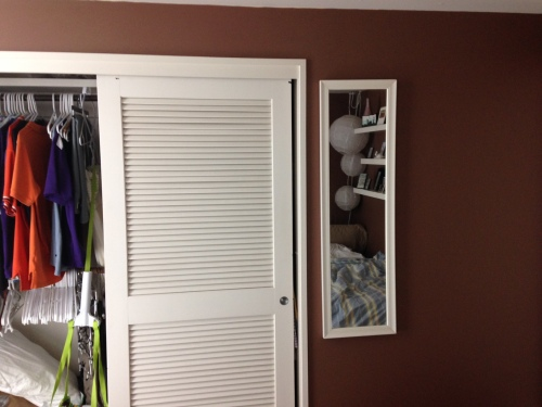 Closet wall. Not much will change here except many of the clothes will change!