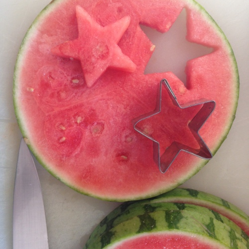 Patriotic watermelons
