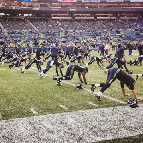 Seahawk stretching
