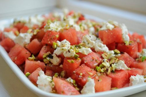 Food52's watermelon goat cheese salad
