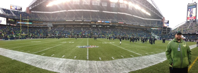 Our pregame view: Amazing!