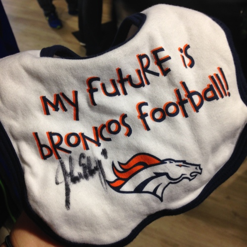 Coolest baby gift EVER! (Especially for the ultimate Broncos fan!)