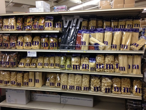 The other side of the dried pasta section