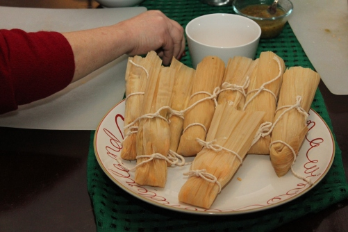 Wrap up the tamales