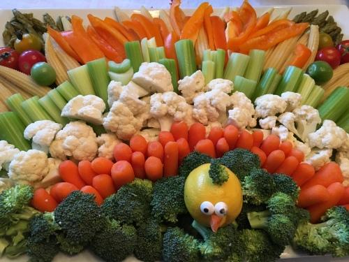 Thanksgiving vegetable tray