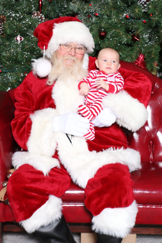 Michael's first Santa photo