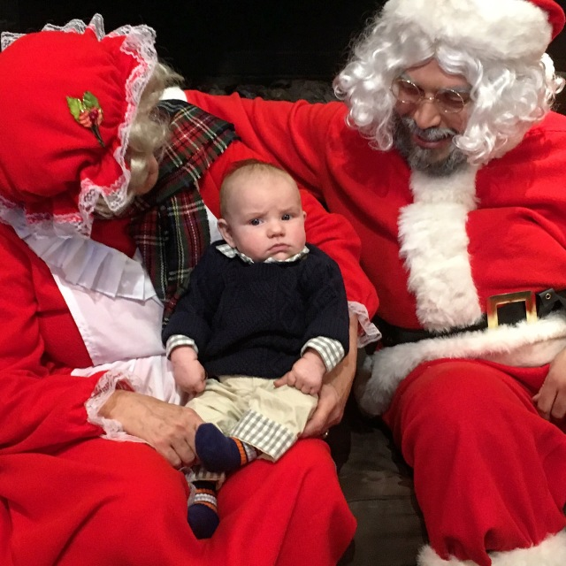 Michael was skeptical with his visit to the Santa at Theo Chocolate
