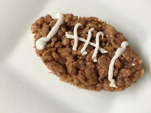 Cocoa Krispies football treats