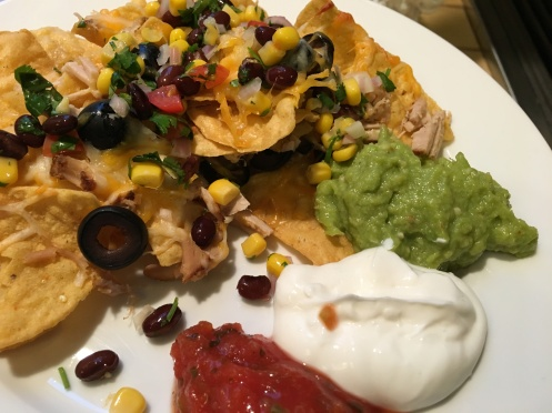 Our delicious SuperBowl nacho plate