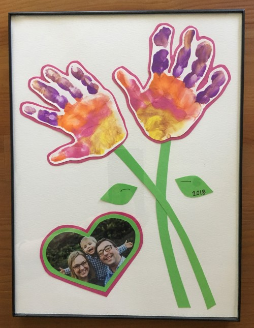 Mother's day bouquet of hand print flowers