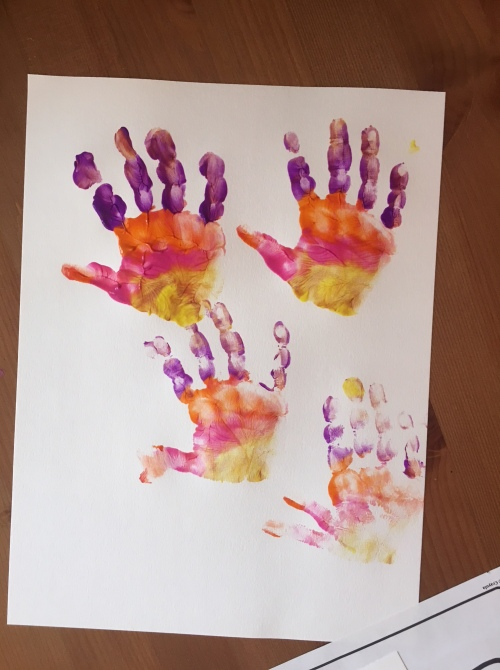 Handprint flowers | Mother's Day