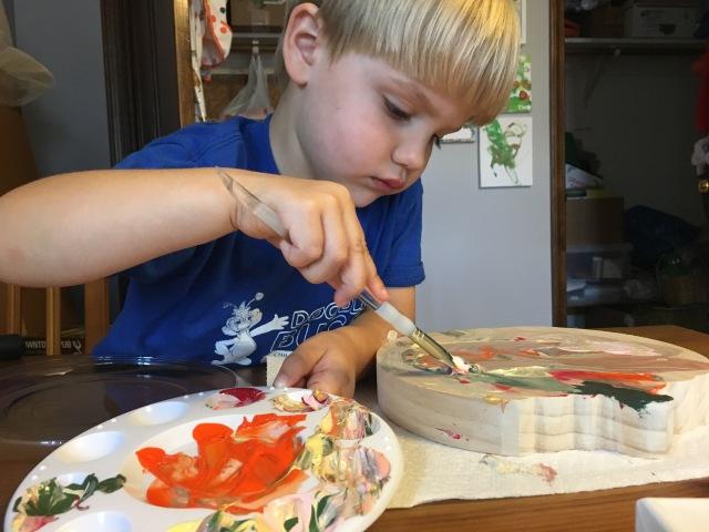 Painting pumpkins!