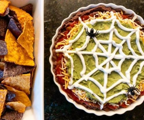 Halloween seven layer dip