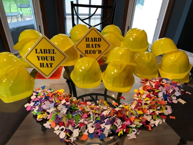 Construction site birthday party decorations