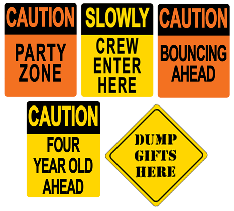 Construction Party signage
